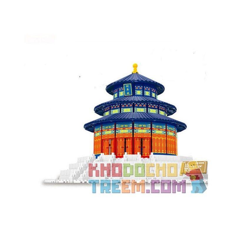 Lego Architecture MOC Wange 8020 The temple of Heaven Xếp hình Đàn thờ trời 578 khối