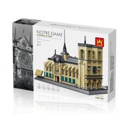Wange 5210 Architecture MOC Notre Dame Xếp hình Nhà thờ đức bà Paris 1380 khối