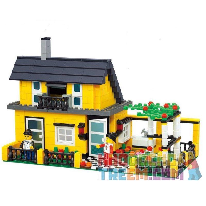 Wange 32051 Creator MOC Villa with garden Xếp hình Biệt thự có vườn 449 khối
