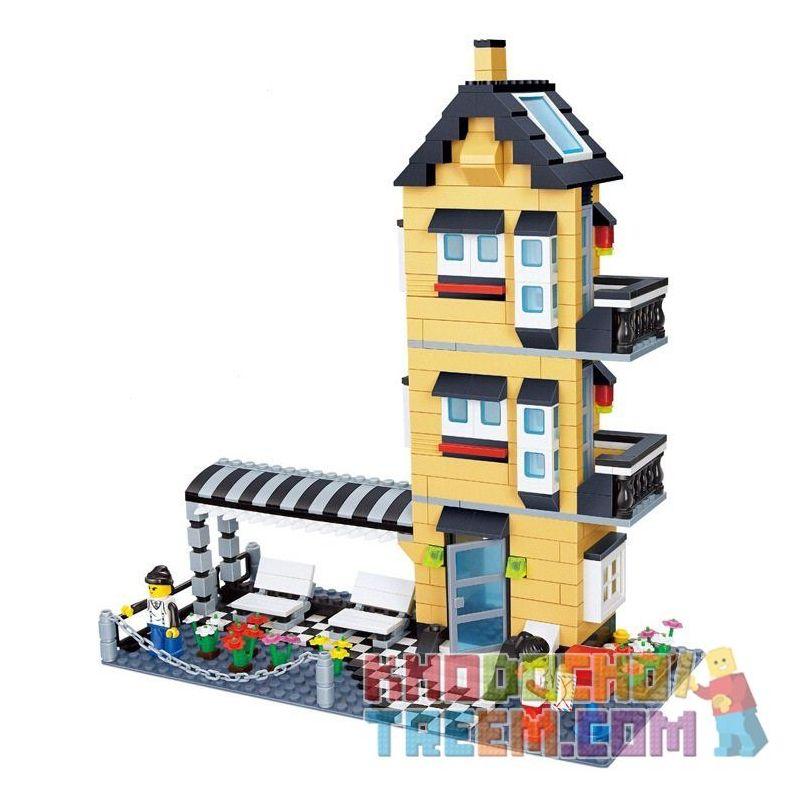 Lego Creator MOC Wange 32053 Three Storey Creation Villa Xếp hình Nhà biệt thự 546 khối