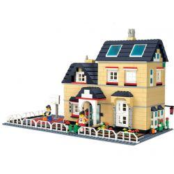 Wange 34052 (NOT Lego Creator Villa ) Xếp hình Biệt Thự Có Sân Bóng Rổ 755 khối