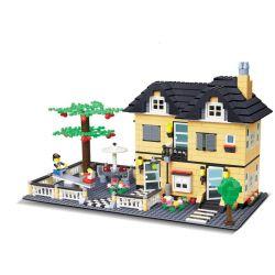 Wange 34053 (NOT Lego Creator Villa ) Xếp hình Biệt Thự Với Sân Chơi 816 khối