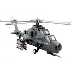 Lego Military Army MOC Wange JX002 WZ-10 Gunship Xếp hình Trực thăng tấn công 283 khối
