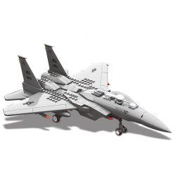 Wange JX005 4004 (NOT Lego Military Army F15 Eagle Fighter ) Xếp hình Máy Bay Chiến Đấu Chim Ưng gồm 2 hộp nhỏ 270 khối