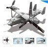 Wange JX006 Military Army MOC V-22 Osprey Tiltrotor Xếp hình Máy bay chim ưng biển 593 khối