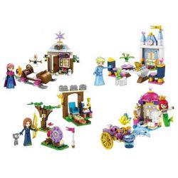 Sheng Yuan 761 SY761 (NOT Lego Disney Princess Anna Elsa Ariel Merida 4 In 1 ) Xếp hình Nữ Hoàng Băng Giá Nàng Tiên Cá Công Chúa Tóc Xù 4 Trong 1 gồm 4 hộp nhỏ 397 khối