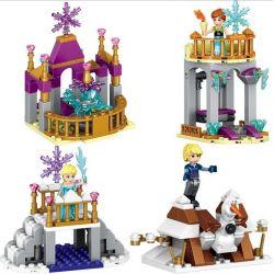 Lego Disney Princess MOC Lele 37003 Frozen 4 in 1 Elsa Anna Christopher Xếp hình Nữ hoàng băng giá 4 trong 1 281 khối