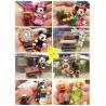Lele 37005 Disney Princess MOC 8 Disney minifigures Xếp hình 8 nhân vật: Vịt Donald, vịt Daisy, chuột Mickey, chuột Minnie, cô tiên thợ Tinker Bell 32 khối