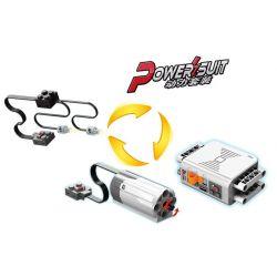 Lego Technic 8293 DR.luck KJ021 Power Functions Motor Set Xếp hình Bộ hộp pin và động cơ nhỏ 9 khối