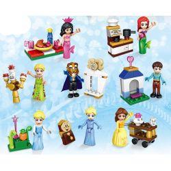 Lele 37006 (NOT Lego Disney Princess Ariel, Jasmine, Elsa, Bella, Rapunzel, Snow White, Cinderella, Anna ) Xếp hình 8 Nhân Vật 296 khối