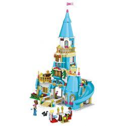 Lego Disney Princess MOC Lele 37008 Anna's Blue Castle Xếp hình Lâu đài xanh của Anna 516 khối