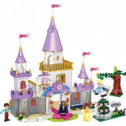 Lego Disney Princess MOC Lele 37009 Beauty and The Beast Castle Xếp hình Lâu đài của Người đẹp và quái vật 667 khối
