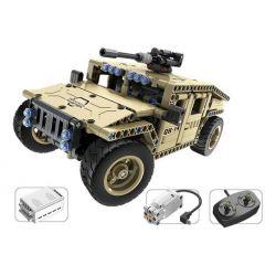 Qihui 8014 Technic MOC Armed Off-road Vehicle Xếp hình Xe ô tô vũ trang điều khiển từ xa động cơ pin sạc 502 khối