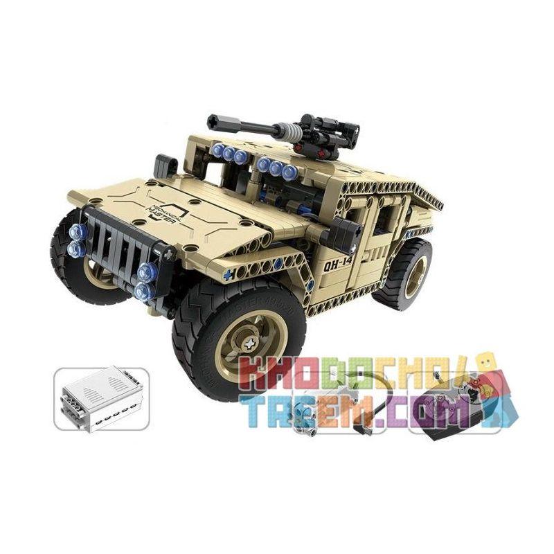 Qihui 8014 (NOT Lego Technic Armed Off-Road Vehicle ) Xếp hình Xe Ô Tô Vũ Trang Điều Khiển Từ Xa Động Cơ Pin Sạc 502 khối