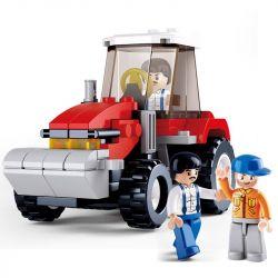 Sluban M38-B0556 City MOC Tractor Xếp hình Máy cày 102 khối