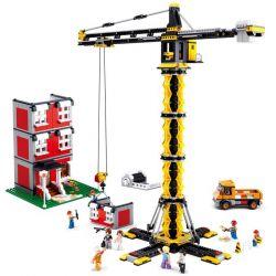 Sluban M38-B0555 City Tower Crane Xếp Hình Cẩu Tháp Xây Nhà 1461 Khối