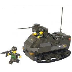 Sluban M38-B0281 Military Army MOC AAV7A1 Armoured Vehicle Xếp hình Xe bọc thép chở quân 179 khối
