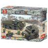 Sluban M38-B0307 (NOT Lego Military Army ServiceTroops ) Xếp hình Xe Tải, Xe Jeep, Xe Máy Chở Quân 455 khối