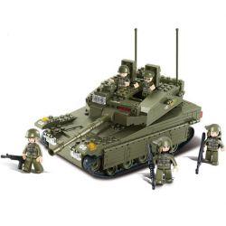Sluban M38-B0305 Military Army MOC MerkavaK1 Tank Xếp hình Xe tăng 344 khối