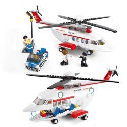 Sluban M38-B0363 City MOC Private Helicopter Xếp hình Trực thăng cá nhân 259 khối
