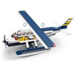 Lego City MOC Sluban M38-B0361 Z-seaplane Xếp hình Thủy phi cơ cá nhân 214 khối