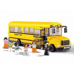 Sluban M38-B0506 City MOC Large School Bus Xếp hình Xe buýt trường học 392 khối