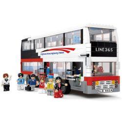 Lego City MOC Sluban M38-B0335 LUXURIOUS DOUBLE-DECKER Xếp hình Xe buýt 2 tầng sang trọng 741 khối