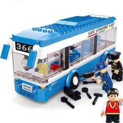 Lego City MOC Sluban M38-B0330 SINGLECKER Xếp hình Xe buýt 1 tầng 235 khối