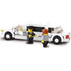 Sluban M38-B0323 City MOC Limousine Xếp hình Xe limo 135 khối