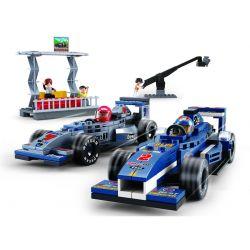 Sluban M38-B0355 Speed champion MOC F1 Grand Prix Xếp hình Xe đua F1 trên đường đua 300 khối