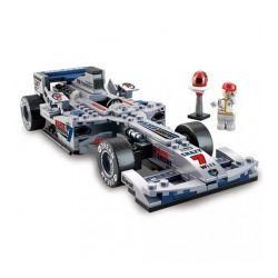"""Sluban M38-B0352 (NOT Lego Speed Champions Racing Car """"Silver Arrow"""" 1:24 ) Xếp hình Xe Đua F1 Mũi Tên Bạc Tỉ Lệ 1:24 257 khối"""