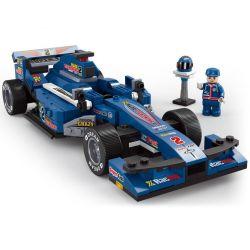 """Lego Speed champion MOC Sluban M38-B0353 F1 """"Blue Lightning"""" Racing Car 1:24 Xếp hình Xe đua F1 tia sét xanh dương tỉ lệ 1:24 287 khối"""
