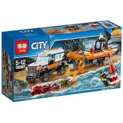 Lepin 02067 City 60165 4 x 4 Response Unit Xếp hình Lực lượng tuần tra bờ biển 375 khối