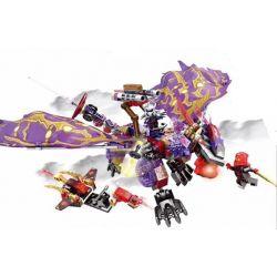 Sembo S8404 Ninjago Movie Dragon Mech Villain Xếp Hình Rồng Máy Tím 380 Khối