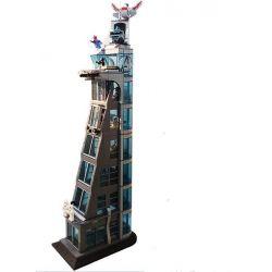 Sheng Yuan SH678 Super Heroes MOC Attack On Avengers Tower Xếp hình Tấn công tòa tháp Siêu anh hùng 1209 khối