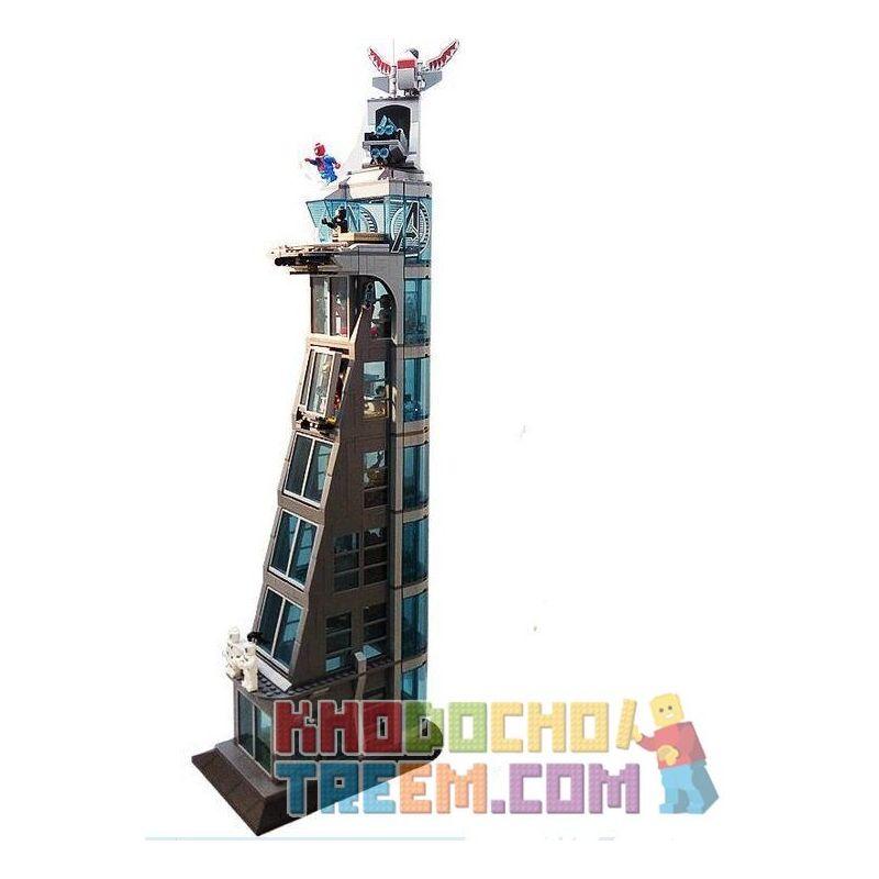 Sheng Yuan SH678 Super Heroes Attack On Avengers Tower Xếp hình Tấn Công Tòa Tháp Siêu Anh Hùng 1209 khối