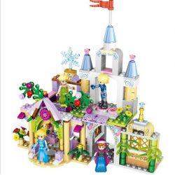 Lele 37020 Disney Princess MOC Anna Elsa castle Xếp hình Lâu đài Anna Elsa 261 khối