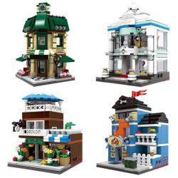 Lego Mini Street MOC Xingbao XB-01105 Coffee Wedding Flowers Pet shop Xếp hình Quán cà phê cửa hàng đồ cưới hoa thú cảnh 1079 khối
