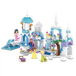 Lele 37024 Disney Princess MOC Mermaid Elsa Anna Ice Castle Xếp hình Lâu đài băng cùng nàng tiên cá nữ hoàng băng giá lọ lem 250 khối