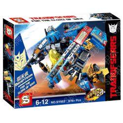 Sheng Yuan SY953 Transformers Decepticon Xếp hình Máy Bay Biến Hình Robot 616 khối