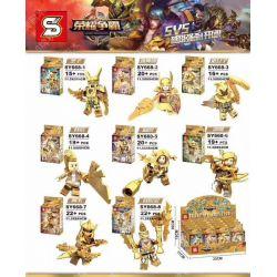 Lego King of Glory MOC Sheng Yuan SY668 Combo 6 charaters: Nakroth Wonder-Woman Mganga Omen Violet Lindis Thane Max Xếp hình 6 nhân vật trong Liên Quân. 152 khối