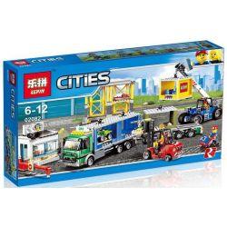 Lepin 02082 City 60169 Cargo Terminal Xếp hình Trạm bốc dỡ hàng hóa 829 khối