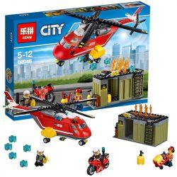 Lepin 02046 City 60108 Fire Response Unit Xếp hình Phi đội cứu hỏa 305 khối