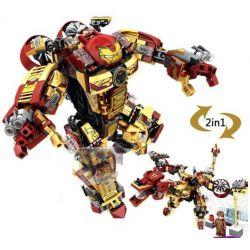 Lego Super Heroes MOC Sheng Yuan MK42 Sembo 60021 Ironman MK42 2 in 1 Xếp hình Người sắt MK42 2 trong 1 327 khối