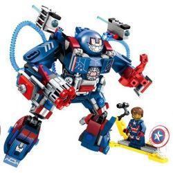 Lego Super Heroes MOC Sheng Yuan MKII MK2 Sembo 60000 Iron Man MKII MK2 Xếp hình Người sắt MK2 339 khối