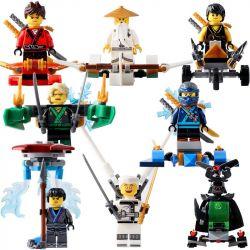 Sheng Yuan SY652 NinJaGo MOC Master Wu, LLoyd, Koko, Kai, Nya, Zane, Cole, Jay Xếp hình 8 nhân vật Ninja 257 khối