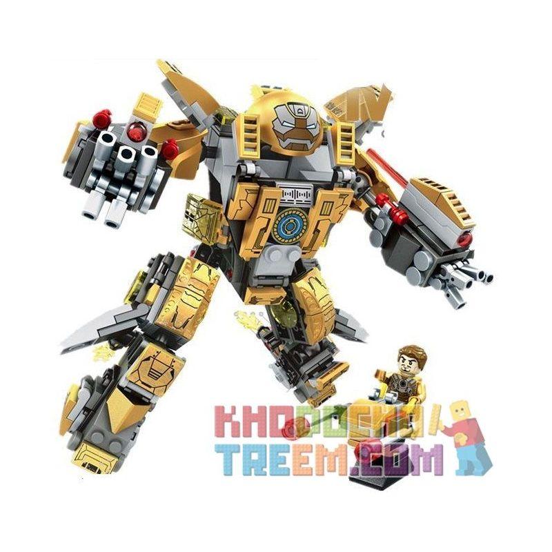 Sembo 60003 Super Heroes MOC Iron Man MK24 Xếp hình Người sắt MK24 347 khối