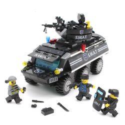Lego Military Army MOC Enlighten 9412 SWAT Armored Vehicles Xếp hình Xe bọc thép của đội đăc nhiệm Swat 349 khối