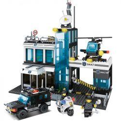 Lego Military Army MOC Enlighten 9413 SWAT Police Command Center Xếp hình 566 khối