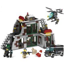 Lego Military Army MOC Enlighten 9414 Police SWAT Raid Terrorists Xếp hình 703 khối